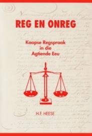 Reg en Onreg: Kaapse regspraak in die agtiende eeu